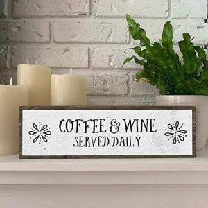 coffee and wine bar sign