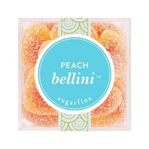 peach bellini sour gummy hearts