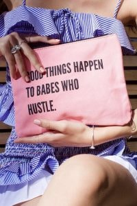 inspiration quote canvas pouch