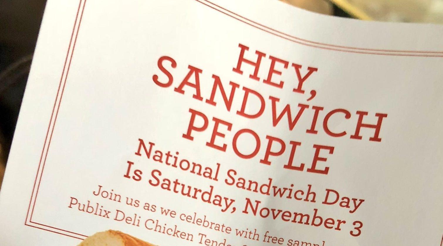 3 Tampa Bay Sandwich Day Deals