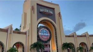 Universal Orlando during the holidays