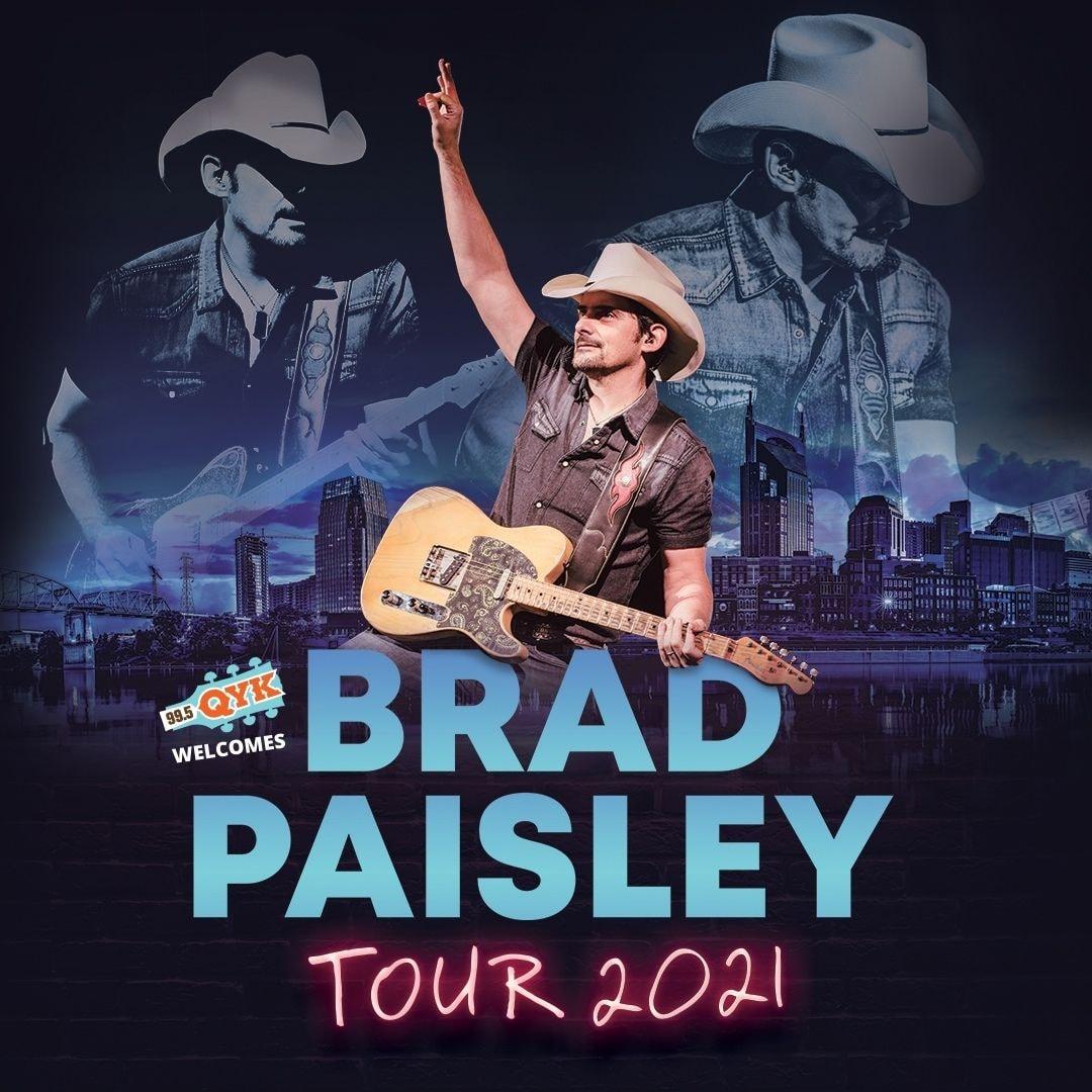 Brad Paisley Tour 2021 Sq